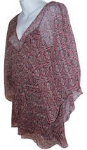 Ella Moss Silk Kimono Top sz M burgundy paisley - $25.00