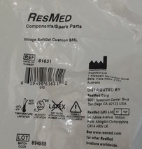 ResMed Mirage Soft Gel Cushion Small 61631 Sealed Package New - $19.99