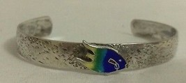 Vintage Enamel on Sterling Silver Bermuda Fish Souvenir Bracelet Baby Small - $35.64