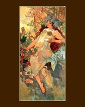 "Autumn_1896 Alphonse mucha, 8x10"" premium poster paper art print/ poster... - $12.49"