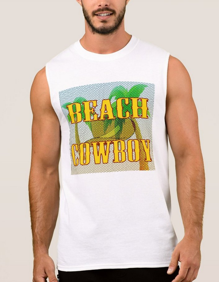 Primary image for Beach Cowboy Ultra Cotton Muscle Tee Shirt - White - Men's