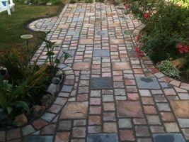 """15 - 6x6""""x1.5"""" Concrete Cobblestone Patio Paver Molds Make 100s for Pennies Each image 5"""