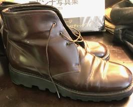 Auth Prada Chukka Boot Grip Lug Sole Shoes 8 - $46.51