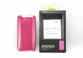 Brand  HTC Dot View Ice Premium Case Cover For HTC One M9 Brand  - Pink - $4.90