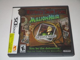 Mystery Case Files: MillionHeir (Nintendo DS, 2008) COMPLETE - $6.64