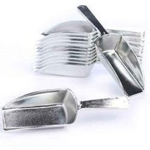 Silver Plastic Candy Scoops Wedding Buffet Dessert Party Kitchen 5.5in 2oz Scoop - $7.91