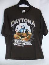 2007 Daytona Bike Week Motorcycle Rally Tshirt 8 Ball Snake Size XL - $14.84