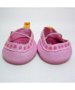 Build A Bear Pink Shimmer Mary Jane Shoes, Sequins & Beads Trim, Straps ... - $6.00