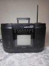 Sony Mega Watchman FD-555 B&W TV/FM STEREO/AM RECEIVER/STEREO Cassette Player - $14.71