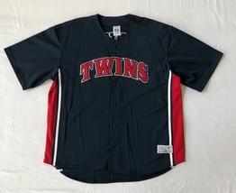 Vtg MLB Minnesota Twins Mens Jersey Shirt Baseball Sport Fan Navy 42-44 ... - $37.11