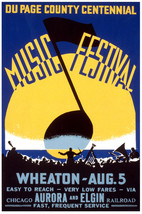 Chicago Music Festival POSTER.Stylish Graphics.Vintage Room Decor.356i - $10.89+