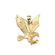 Real 10K Yellow Gold Flying Eagle Hawk Pendant Charm 3.60 Gram - $205.20