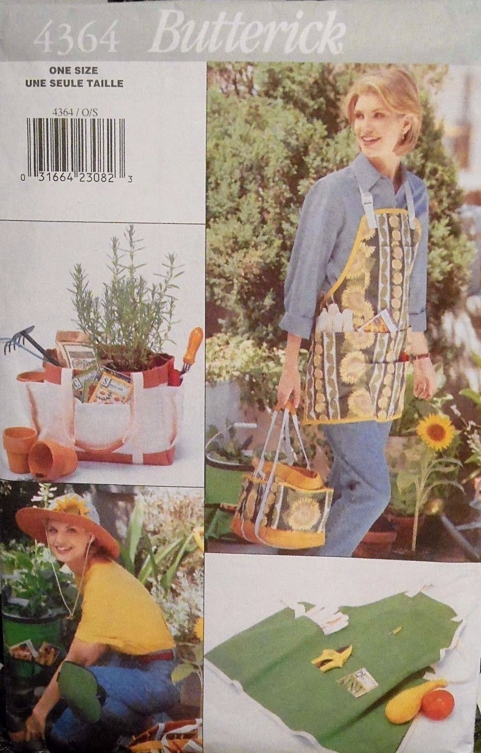 Garden Accessories Pattern 4364 Knee Pads, Hat, Tote