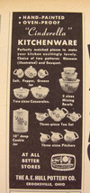 1949 HULL Pottery CINDERELLA Kitchenware Print Ad Crooksville, Ohio - $9.99
