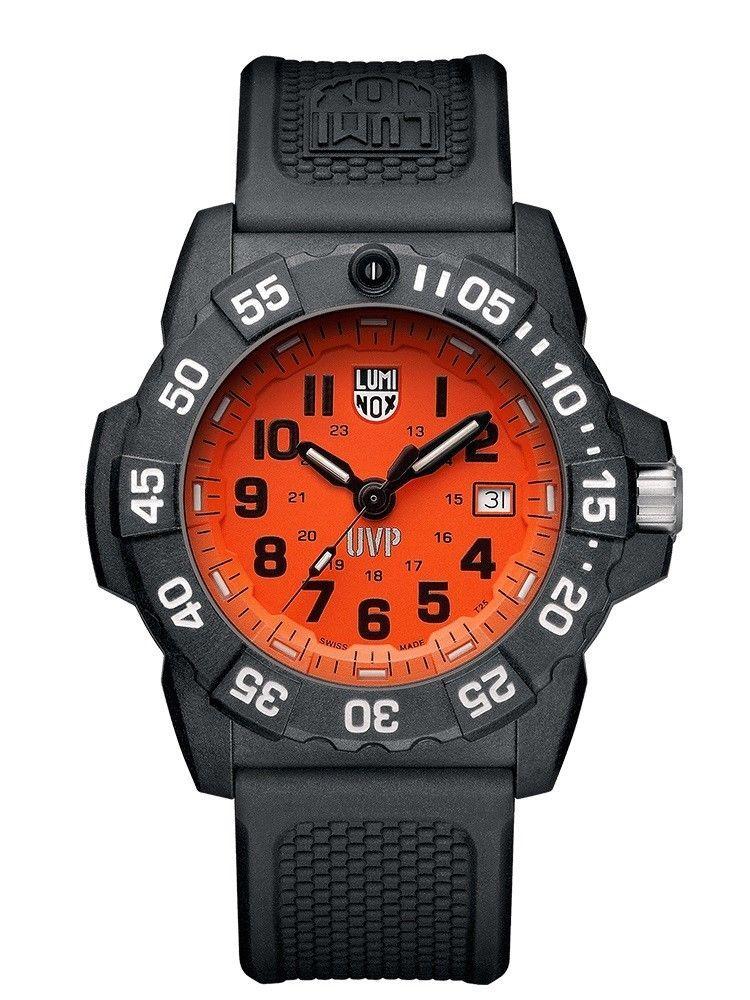 Luminox SCOTT CASSELL UVP SET 3509.SC.SET Mens Watch Swiss Orange Dial