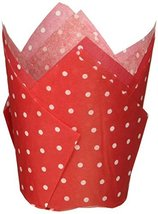 Kole Polka Dot Paper Baking Cups, Regular, Red and White - $3.22