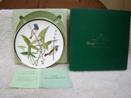 "Franklin Mint Natl Audubon Society Songbirds of the World Plate ""The Blu... - $21.73"
