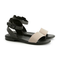 Timberland Women's Cherrybrook Black Leather Sandals A1VHU - $59.99