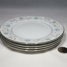 Lot of 4 English Garden Platinum Bread and Butter Plates Fine China Japa... - $23.95