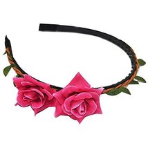 3 Pcs Rose Lily Creative Woven Cloth Hair Bands Headdress Hair Accessories
