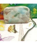 Aimee Kestenberg Ina Leather Wallet Brushed Multi Shimmer Clutch Wristlet - $37.39