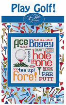 Play Golf Post Stitches cross stitch chart Sue Hillis Design - $5.40