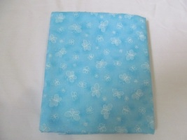 Light Blue & White Butterfly Quilting Fabric JoAnn Fabrics 1.5 Yards - $14.90