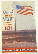 1945 Official Detroit Tigers Baseball Scorecard v Philadelphia Athletics... - $24.75