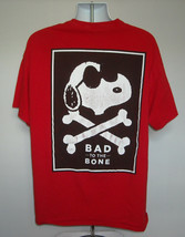 Mens Peanuts Snoopy Bad to the Bone t shirt XXL crossbones Jolly Roger - $21.73