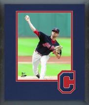 Shane Bieber 2018 Cleveland Indians Action- 11x14 Team Logo Matted/Frame... - $43.95