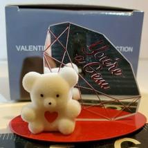 "Avon Valentine Teddy Bear Collection You're A Gem Mirror Figurine 2"" H O... - $9.50"