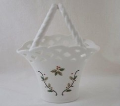 MIKASA Holiday Lace Basket with Twisted Handle #564 - $20.00
