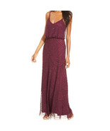 Adrianna Papell Women's Spaghetti Beaded Mesh Long Blouson Dress - $119.99