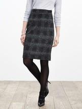Banana Republic Plaid Pencil Skirt, Gray/black, Wool Blend, Size 12, NWT image 1