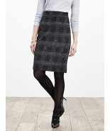 Banana Republic Plaid Pencil Skirt, Gray/black, Wool Blend, Size 12, NWT - $1.886,21 MXN