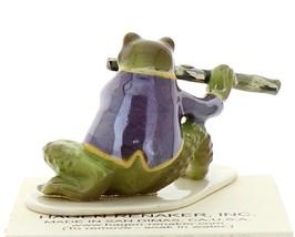 Hagen-Renaker Miniature Ceramic Frog Figurine Toadally Brass Band Flute Player image 3