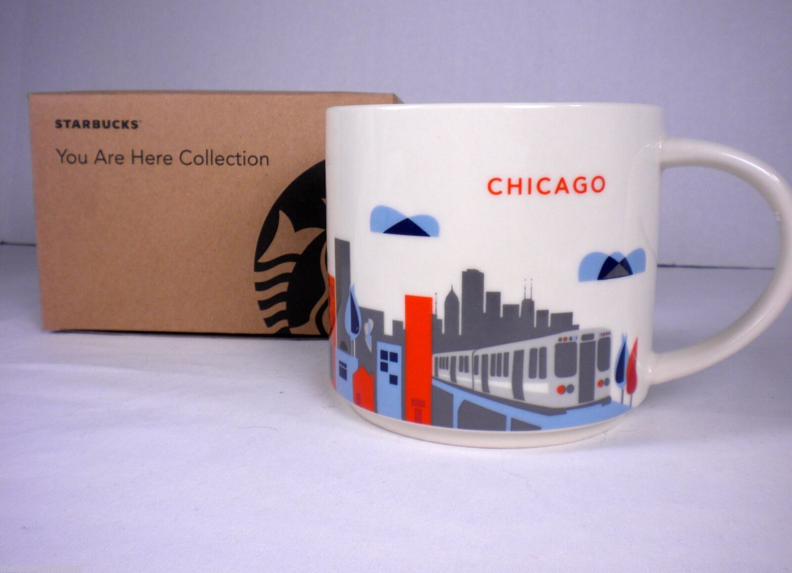 Starbucks Chicago You Are Here Collection Mug Cup NEW in Box Skyline, L Train image 2
