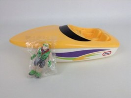 Vintage 80's Yellow Little Tikes Semi Boat Hauler Truck Replacement w/ F... - $39.55