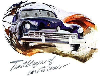 "Primary image for 1949 Frazer ""Trailblazer of Cars to Come"" - Promotional Advertising Poster"