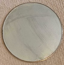 """Vintage Antique 14"""" Round Vanity Mirror Table Centerpiece Tray with cut ... - $39.59"""