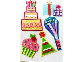 Momenta Life of the Party Layered Felt Stickers #ST1764