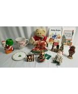 CHRISTMAS Decor Lot CERAMIC PLATE, Santa Candel Holder, Joy Cup, Sled Be... - $47.95