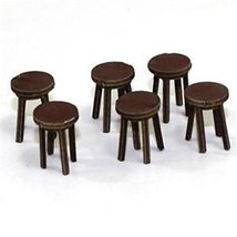 4Ground 28mm Furniture: Medium Wood Bar Stool