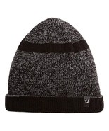 True Religion Men's Black/Gray Short Knit Cuff Beanie, One Size Fits All - $35.15