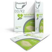 PatchMD D3/K2  - Topical Patch (30-Day Supply) - EXP 2022 - $14.85