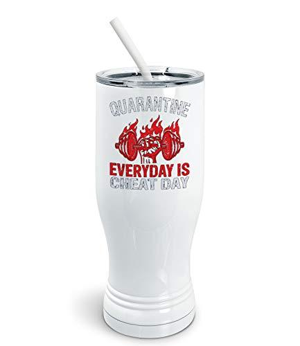 Primary image for PixiDoodle Foodie Fitness Coach Quarantine Pilsner Tumbler with Spill-Resistant
