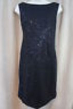 Muse Dress Sz 6 Black Embellished All Over Sleeveless Evening Cocktail D... - $79.17