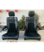 BLACK LEATHER/SUEDE SEATS-SPRINTER,VAN, HOTROD,TRUCKS (2 PCS SET) - $415.80