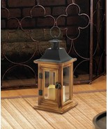 Lot of 3 Classical Square Wooden Lanterns with Flameless LED Candles - $69.79