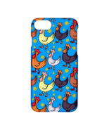 Funny Roosters Printed Lightweight Hardshell Plastic Case for Apple iPho... - $19.99